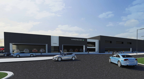 Green light for �7.5m Farnell Land Rover Leeds dealership