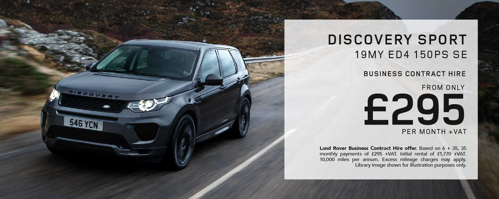Land Rover Discovery Sport Business Contract Hire Offer