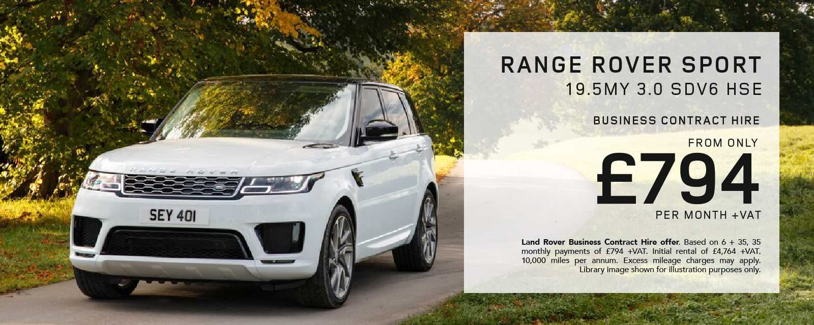 Range Rover Sport Business Contract Hire Offer