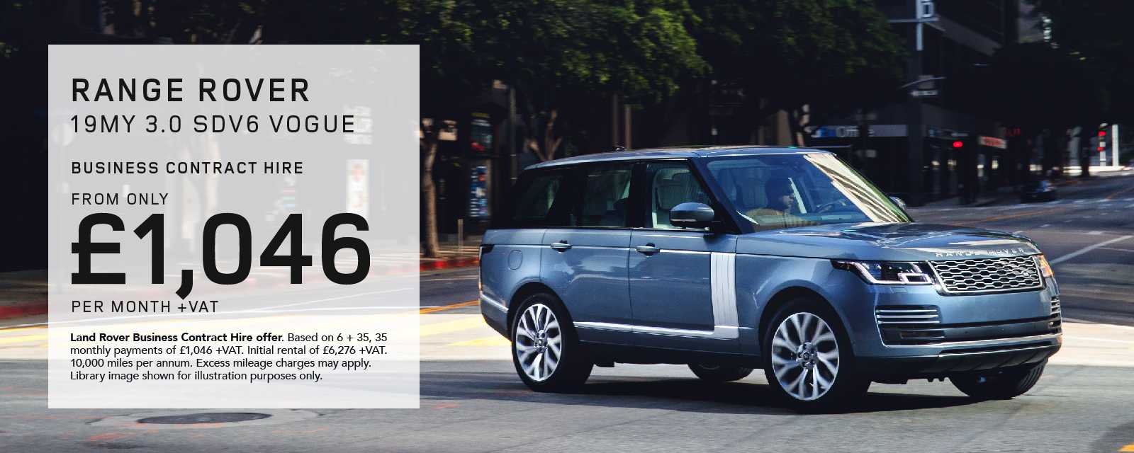 Range Rover Business Contract Hire Offer