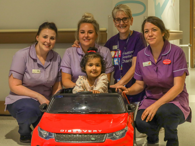 Bradford Hospital accelerates care on children�s ward with mini Land Rover gift