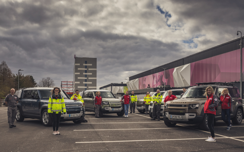 Jaguar and Land Rover Arrange Global Fleet to Help Red Cross Deliver Essentials